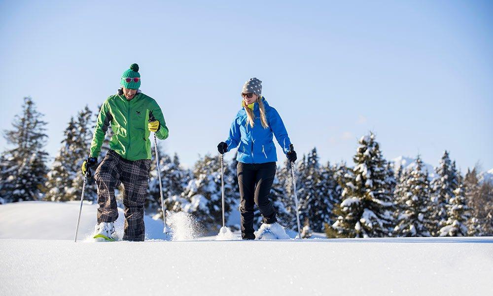 Auf Schneeschuhen zu unberührten Regionen