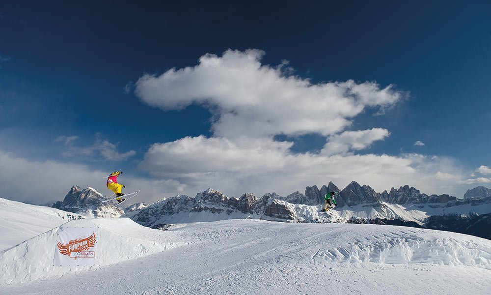 The longest ski slope in South Tyrol